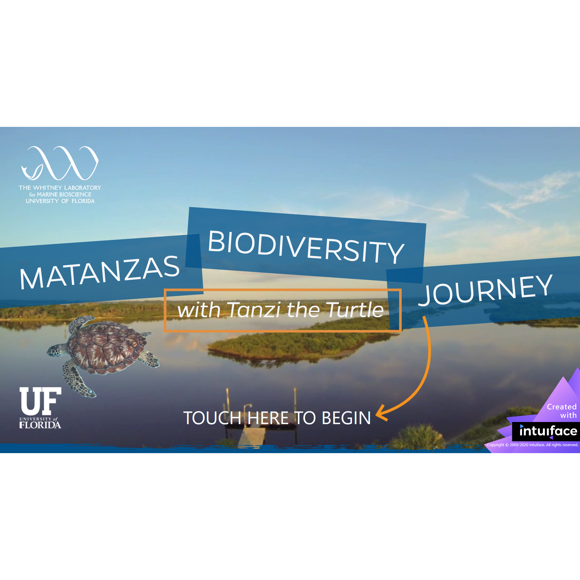 Screenshot of Matanzas Biodiversity Journey Home Page
