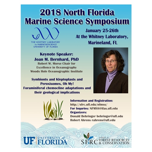 Flyer for North Florida Marine Science Symposium